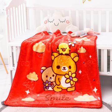 婴儿绒毯双层加厚冬季新生儿拉舍尔毛毯幼儿园盖毯儿童毯子云毯包被