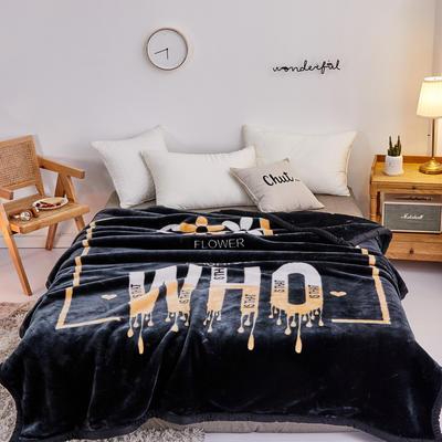 2019新品拉舍爾珊瑚絨毯子冬季加厚保暖雙層法蘭絨毛毯單人宿舍學生墊被子 150×200cm 心有所屬
