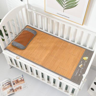 2020新款可定做婴儿凉席夏季儿童双面竹藤席幼儿园午睡席子宝宝可水洗枕席 60×135 竹藤双面童席(双面可用)