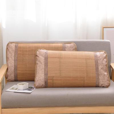 2020新款夏季涼席枕套成人藤枕芯套單人冰絲枕頭套夏天涼爽竹枕席子(45×72) 鏡面竹枕套