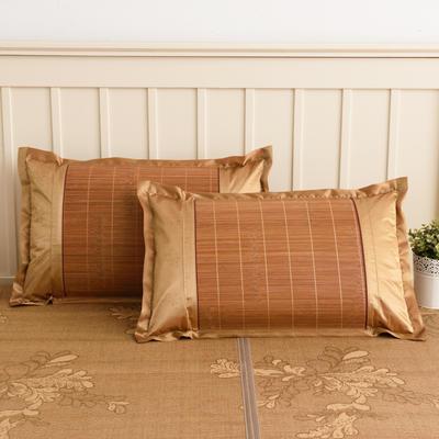 2020新款夏季凉席枕套成人藤枕芯套单人冰丝枕头套夏天凉爽竹枕席子(45×72) 碳化方角竹枕套