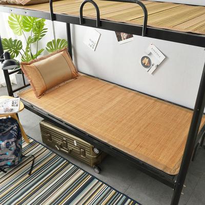 2020新款学生竹席凉席寝室宿舍单人床草席夏季冰丝席子 80×185cm小边 海港之夜