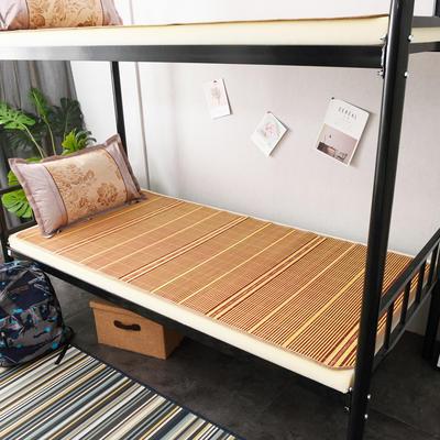 2020新款学生竹席凉席寝室宿舍单人床草席夏季冰丝席子 80×185cm小边 芊芊诗意