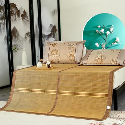 2米竹席蔺草凉席1.8m床折叠双面藤席子夏季1.5米草席单人1.2冰丝席 1.8*2.15m 盛夏光年