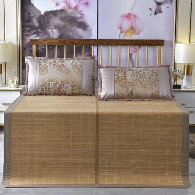 2米竹席蔺草凉席1.8m床折叠双面藤席子夏季1.5米草席单人1.2冰丝席 1.8×1.95m 水墨年华