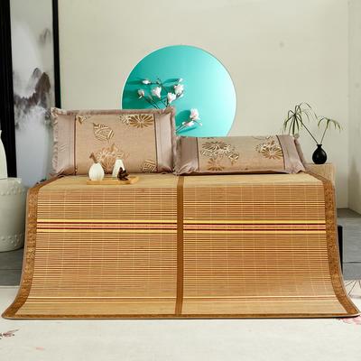 2米竹席蔺草凉席1.8m床折叠双面藤席子夏季1.5米草席单人1.2冰丝席 1.8×1.95m 芊芊诗意