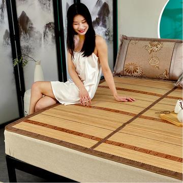 2米竹席蔺草凉席1.8m床折叠双面藤席子夏季1.5米草席单人1.2冰丝席