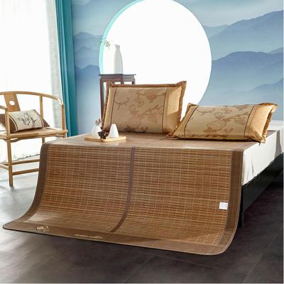 2米竹席藺草涼席1.8m床折疊雙面藤席子夏季1.5米草席單人1.2冰絲席 1.2×1.9m 湖光月色