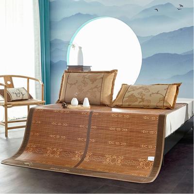 2米竹席蔺草凉席1.8m床折叠双面藤席子夏季1.5米草席单人1.2冰丝席 1.8×2m 北欧生活