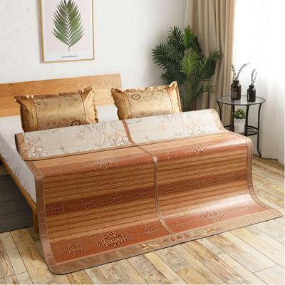 2米竹席蔺草凉席1.8m床折叠双面藤席子夏季1.5米草席单人1.2冰丝席 1.8×2m 盛世皇宫