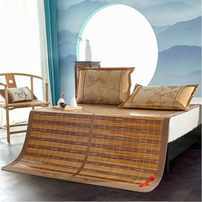 2米竹席蔺草凉席1.8m床折叠双面藤席子夏季1.5米草席单人1.2冰丝席 1.8×2m 幸福一生