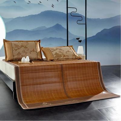 2米竹席蔺草凉席1.8m床折叠双面藤席子夏季1.5米草席单人1.2冰丝席 1.2×1.9m 柳岸春风