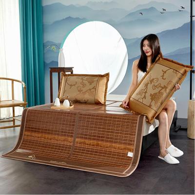 2米竹席蔺草凉席1.8m床折叠双面藤席子夏季1.5米草席单人1.2冰丝席 1.8×2m 罗拉花园