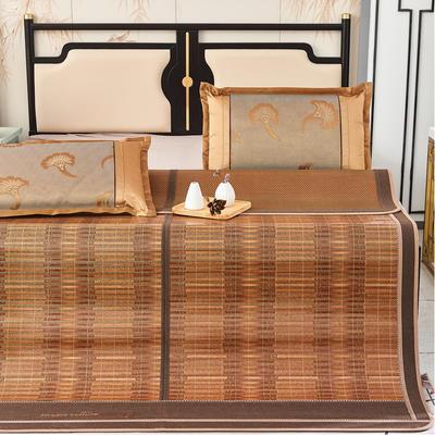 2米竹席蔺草凉席1.8m床折叠双面藤席子夏季1.5米草席单人1.2冰丝席 1.8×2m 节节高升