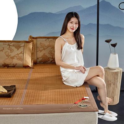 2米竹席蔺草凉席1.8m床折叠双面藤席子夏季1.5米草席单人1.2冰丝席 1.8×2m 茶韵丝享