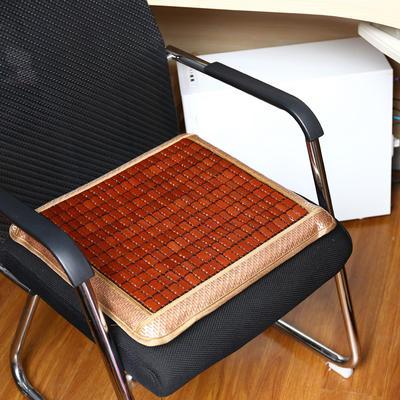 2020新款夏季藤席海绵增高椅子垫四季麻将加厚电脑坐垫防滑餐椅垫汽车座垫 45×45cm(海绵芯) 冰藤麻将记忆方垫靠枕组