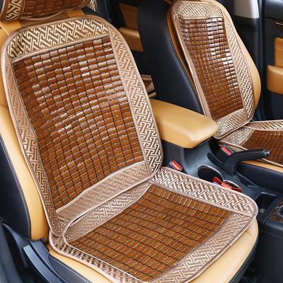2020新款汽车凉席坐垫夏季通用三件套透气夏天麻将竹垫子单片座椅垫靠背垫 前排连靠椅垫 50×135 汽车麻将椅垫