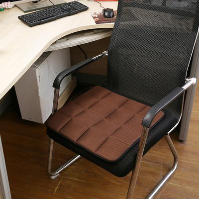 2020新款坐垫办公室椅垫3D网眼透气防滑竹炭坐垫学生垫餐椅垫汽车垫夏季 45×45cm 竹炭坐垫咖色