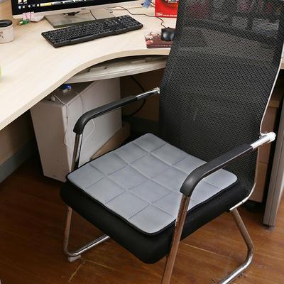 2020新款坐垫办公室椅垫3D网眼透气防滑竹炭坐垫学生垫餐椅垫汽车垫夏季 45×45cm 竹炭坐垫银灰
