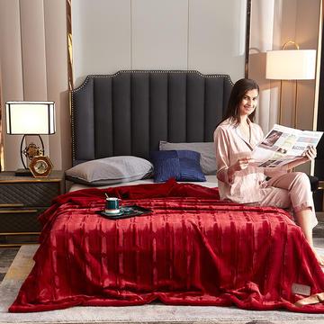 2020新款加厚双层拉舍尔毛毯双人云毯仿毛皮盖毯婚庆毯保暖法兰绒毯子