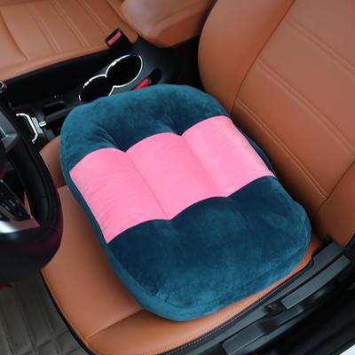 2020新款新品学车坐垫增高加厚矮个专用驾驶座汽车垫子驾照神器练车科目二三双面水晶绒坐垫椅垫 40cm*48cm厚约11cm 宝蓝
