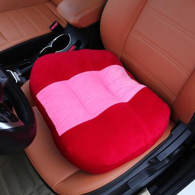 2020新款新品学车坐垫增高加厚矮个专用驾驶座汽车垫子驾照神器练车科目二三双面水晶绒坐垫椅垫 40cm*48cm厚约11cm 红色