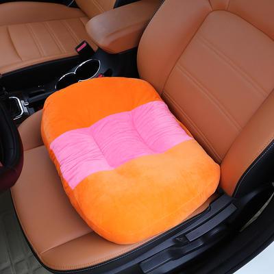2020新款新品学车坐垫增高加厚矮个专用驾驶座汽车垫子驾照神器练车科目二三双面水晶绒坐垫椅垫 40cm*48cm厚约11cm 桔黄
