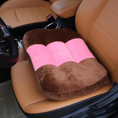 2020新款新品学车坐垫增高加厚矮个专用驾驶座汽车垫子驾照神器练车科目二三双面水晶绒坐垫椅垫 40cm*48cm厚约11cm 咖啡