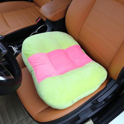 2020新款新品学车坐垫增高加厚矮个专用驾驶座汽车垫子驾照神器练车科目二三双面水晶绒坐垫椅垫 40cm*48cm厚约11cm 绿色