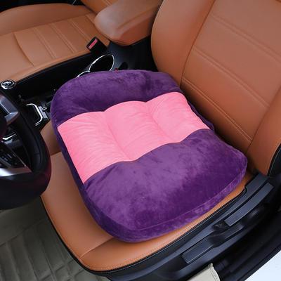 2020新款新品学车坐垫增高加厚矮个专用驾驶座汽车垫子驾照神器练车科目二三双面水晶绒坐垫椅垫 40cm*48cm厚约11cm 紫色