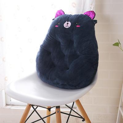 2020新品学开车水晶绒加厚保暖胖子垫办公椅靠垫餐椅垫小熊椅垫 宽42cm*高45cm厚6~7cm 小熊 宝蓝