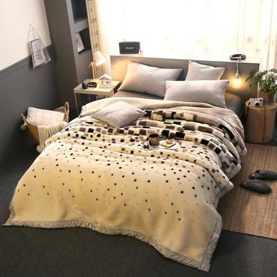 拉舍尔毛毯加厚双层被子单人双人珊瑚绒毯秋冬季床单学生婚庆盖毯 150x200cm重1.7kg 319灰绿