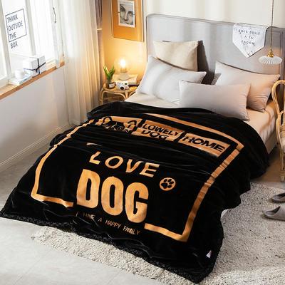 拉舍尔毛毯加厚双层被子单人双人珊瑚绒毯秋冬季床单学生婚庆盖毯 150x200cm重1.7kg 格调