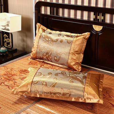 2021新品夏季凉席枕套成人藤枕芯套单人冰丝枕头套夏天凉爽竹枕席一对 45×72cm/对 冰藤方枕套