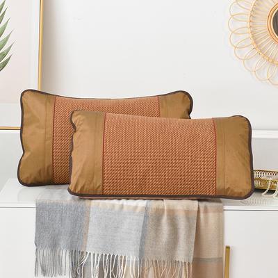 2021新品夏季凉席枕套成人藤枕芯套单人冰丝枕头套夏天凉爽竹枕席一对 45×72cm/对 步步高藤枕套