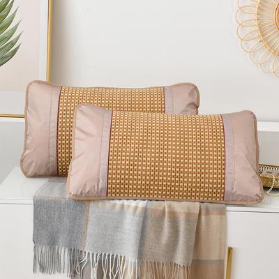 2021新品夏季凉席枕套成人藤枕芯套单人冰丝枕头套夏天凉爽竹枕席一对 45×72cm/对 白玉藤枕套