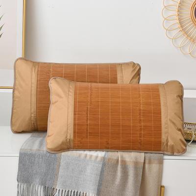 2021新品夏季凉席枕套成人藤枕芯套单人冰丝枕头套夏天凉爽竹枕席一对 45×72cm/对 镜面竹枕套