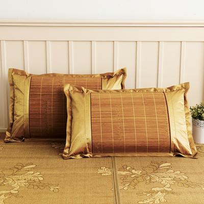 2021新品夏季凉席枕套成人藤枕芯套单人冰丝枕头套夏天凉爽竹枕席一对 45×72cm/对 碳化竹方枕套