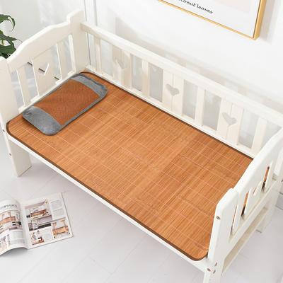 2021新款可定做婴儿凉席夏季儿童双面竹藤席幼儿园午睡席子宝宝可水洗冰丝席 60x135cm 碳化儿童竹席