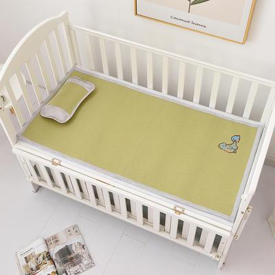 2021新款可定做婴儿凉席夏季儿童双面竹藤席幼儿园午睡席子宝宝可水洗冰丝席 60x135cm 绣花藤童席