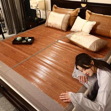 竹席凉席1.8m床草席夏季双面可折叠单人冬夏两用1.5米1.2冰丝席子