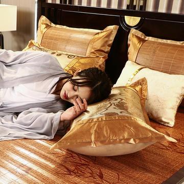 2021丹兰家夏季凉席枕套成人藤枕芯套单人冰丝枕头套夏天凉爽竹枕席子