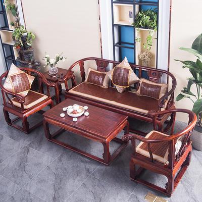 2021新款可定做夏天凉席实木头红木沙发垫麻将席凉垫夏季竹垫冰藤防滑加厚坐垫 坐垫45x45一个 冰藤麻将沙发垫