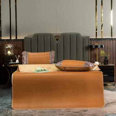 标题 藤席1.8m床凉席冰丝双面正反冬夏两用折叠1.5米1.2席子夏季竹席 90x190cm/套 印尼红小边藤席