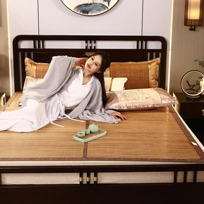 2米竹席蔺草凉席1.8m床折叠双面藤席子夏季1.5米草席单人1.2冰丝席 90×190cm 六六大顺
