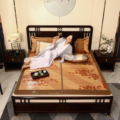 2米竹席蔺草凉席1.8m床折叠双面藤席子夏季1.5米草席单人1.2冰丝席 150×190cm 向阳花开