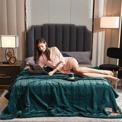 2021新款加厚双层拉舍尔毛毯双人云毯仿毛皮盖毯婚庆毯保暖法兰绒毯子 150*200cm±5cm 胡兰