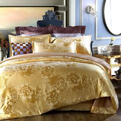 丝棉提花四件套 2.0m(6.6英尺)床 浪漫满屋-驼