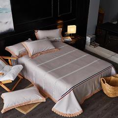 全棉加厚色织生态多功能凉席床单三件套 250*250 风清扬