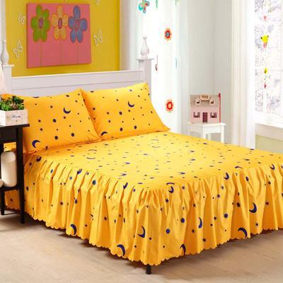 植物羊绒双层单件床裙 枕套一对 星月传奇